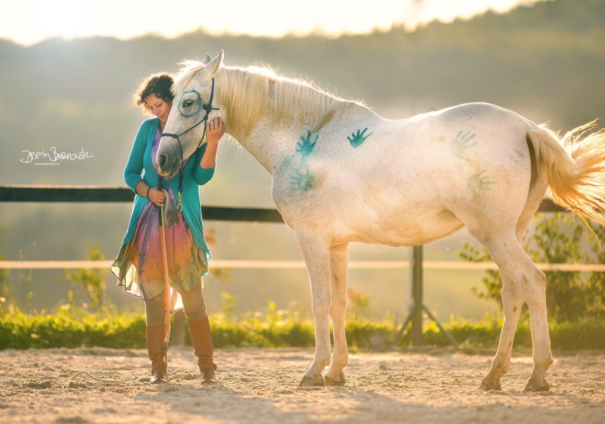 Lilia Christina Martiny mit ihrem Pferd